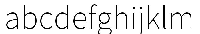 Noto Sans CJK KR Thin Font LOWERCASE