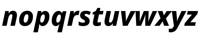 Noto Sans Condensed ExtraBold Italic Font LOWERCASE