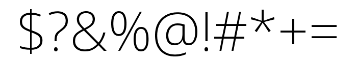 Noto Sans Condensed ExtraLight Font OTHER CHARS