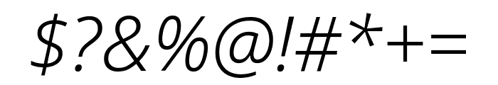 Noto Sans Condensed Light Italic Font OTHER CHARS