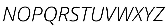 Noto Sans Condensed Light Italic Font UPPERCASE