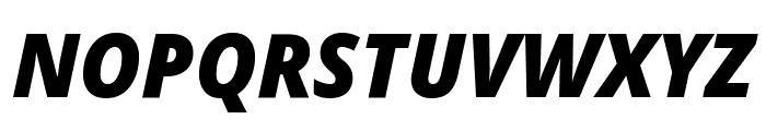 Noto Sans Display Condensed Black Italic Font UPPERCASE