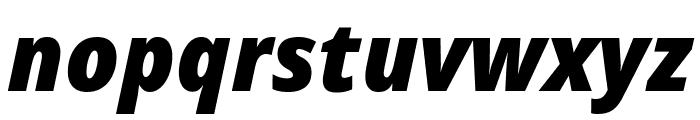 Noto Sans Display Condensed Black Italic Font LOWERCASE
