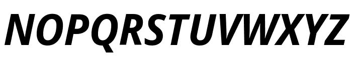 Noto Sans Display Condensed Bold Italic Font UPPERCASE