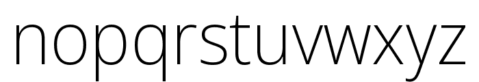 Noto Sans Display Condensed ExtraLight Font LOWERCASE