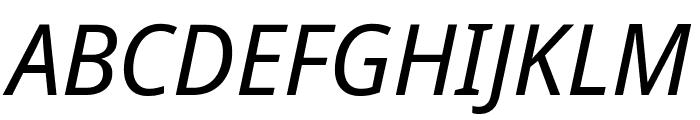 Noto Sans Display Condensed Italic Font UPPERCASE