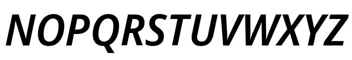 Noto Sans Display Condensed SemiBold Italic Font UPPERCASE