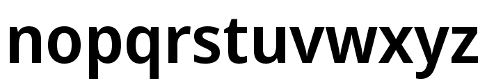 Noto Sans Display Condensed SemiBold Font LOWERCASE