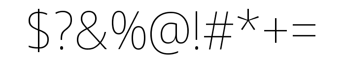 Noto Sans Display Condensed Thin Font OTHER CHARS