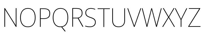 Noto Sans Display Condensed Thin Font UPPERCASE