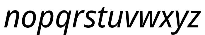 Noto Sans Display ExtraCondensed Italic Font LOWERCASE
