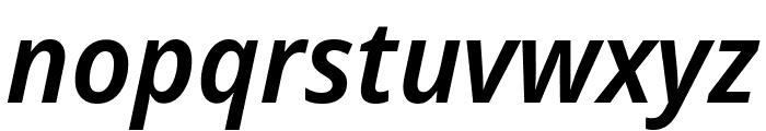Noto Sans Display ExtraCondensed SemiBold Italic Font LOWERCASE