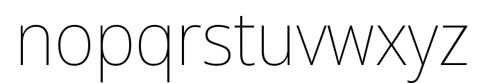 Noto Sans Display ExtraCondensed Thin Font LOWERCASE