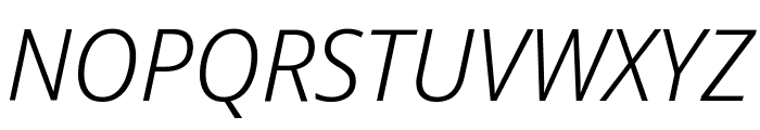 Noto Sans Display Light Italic Font UPPERCASE