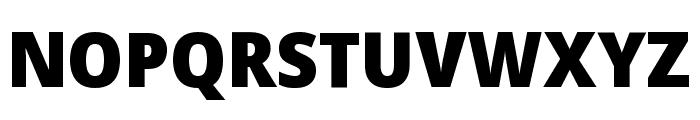 Noto Sans Display SemiCondensed Black Font UPPERCASE