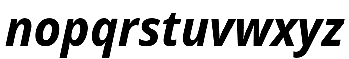 Noto Sans Display SemiCondensed Bold Italic Font LOWERCASE