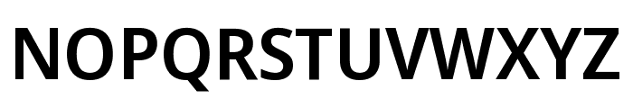 Noto Sans Display SemiCondensed SemiBold Font UPPERCASE