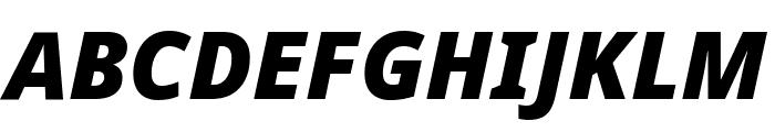 Noto Sans ExtraCondensed Black Italic Font UPPERCASE