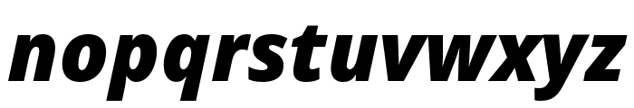 Noto Sans ExtraCondensed Black Italic Font LOWERCASE