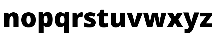 Noto Sans ExtraCondensed Black Font LOWERCASE