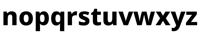 Noto Sans ExtraCondensed ExtraBold Font LOWERCASE