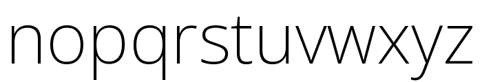 Noto Sans ExtraCondensed ExtraLight Font LOWERCASE