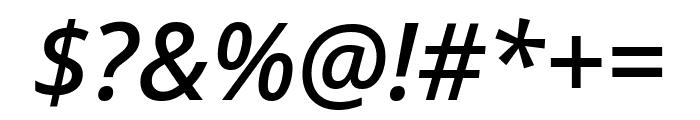 Noto Sans Medium Italic Font OTHER CHARS