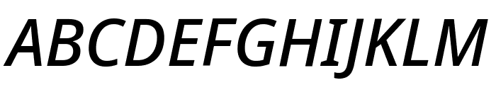 Noto Sans Medium Italic Font UPPERCASE