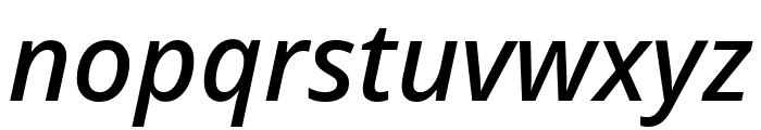 Noto Sans Medium Italic Font LOWERCASE
