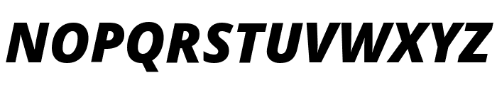 Noto Sans SemiCondensed Black Italic Font UPPERCASE