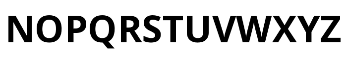 Noto Sans SemiCondensed Bold Font UPPERCASE