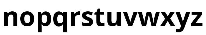 Noto Sans SemiCondensed Bold Font LOWERCASE