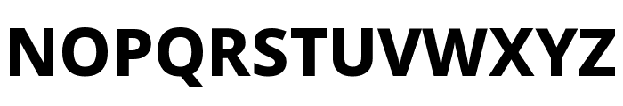 Noto Sans SemiCondensed ExtraBold Font UPPERCASE