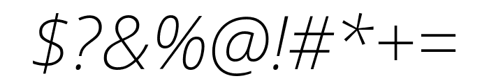 Noto Sans SemiCondensed ExtraLight Italic Font OTHER CHARS