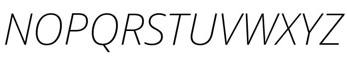 Noto Sans SemiCondensed ExtraLight Italic Font UPPERCASE