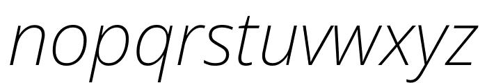 Noto Sans SemiCondensed ExtraLight Italic Font LOWERCASE
