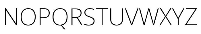 Noto Sans SemiCondensed ExtraLight Font UPPERCASE