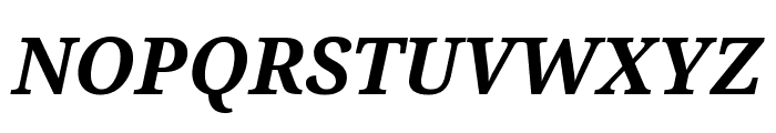 Noto Serif Condensed Bold Italic Font UPPERCASE