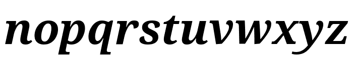 Noto Serif Condensed Bold Italic Font LOWERCASE
