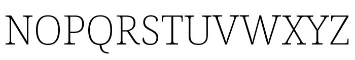 Noto Serif Condensed ExtraLight Font UPPERCASE