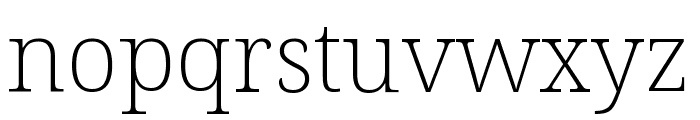 Noto Serif Condensed ExtraLight Font LOWERCASE