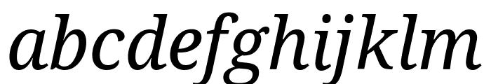 Noto Serif Condensed Italic Font LOWERCASE