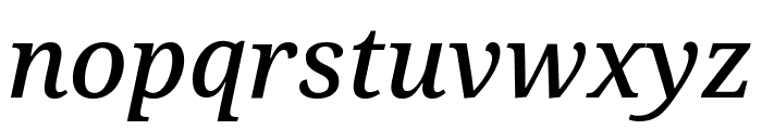 Noto Serif Condensed Medium Italic Font LOWERCASE