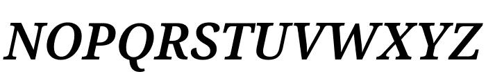 Noto Serif Condensed SemiBold Italic Font UPPERCASE