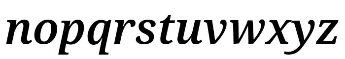 Noto Serif Condensed SemiBold Italic Font LOWERCASE