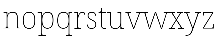 Noto Serif Condensed Thin Font LOWERCASE
