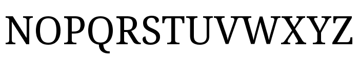 Noto Serif Condensed Font UPPERCASE