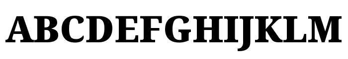 Noto Serif ExtraCondensed Black Font UPPERCASE
