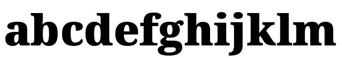 Noto Serif ExtraCondensed Black Font LOWERCASE