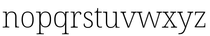 Noto Serif ExtraCondensed ExtraLight Font LOWERCASE